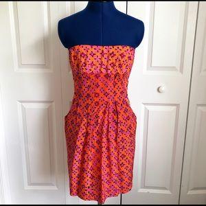 Nanette Lepore Silk Strapless Dress